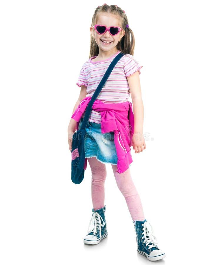 Little fashion girl stock photography