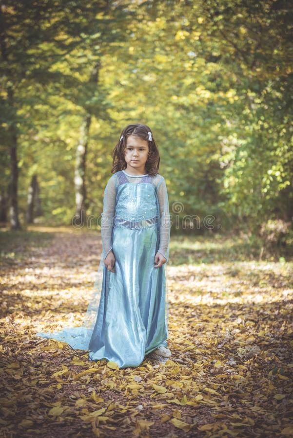 Little fashionable girl stock images