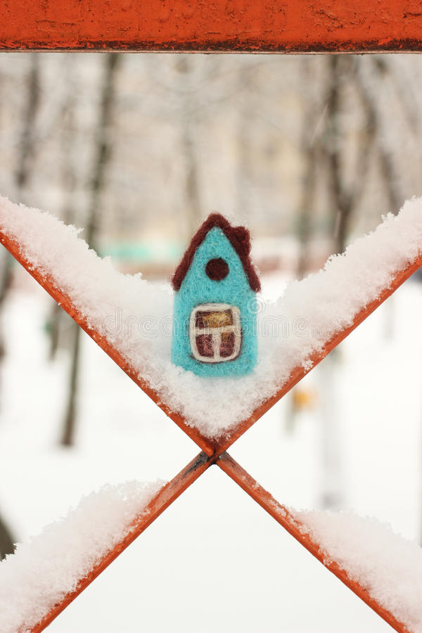 Free Little Felted House Stock Images - 49789444