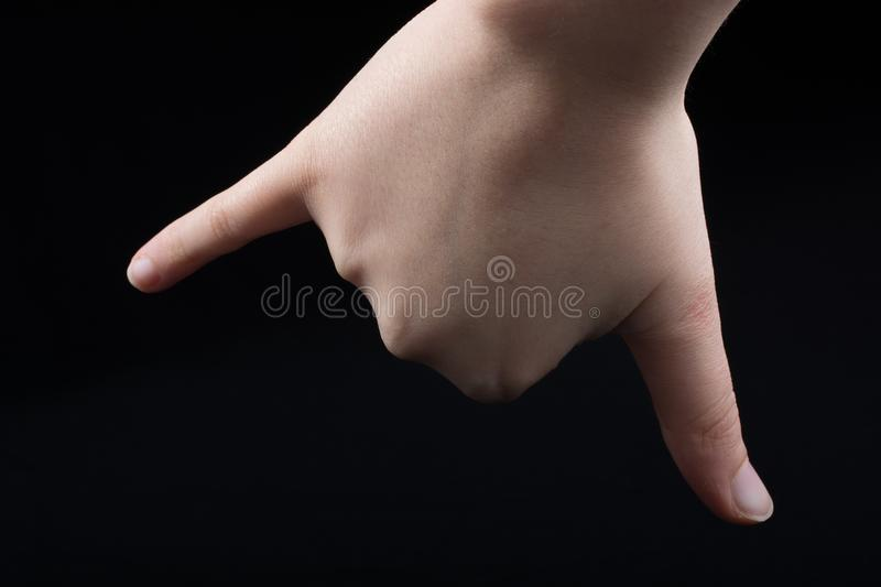 Little finger isolated to reconcile or promise. Or friendship stock photos