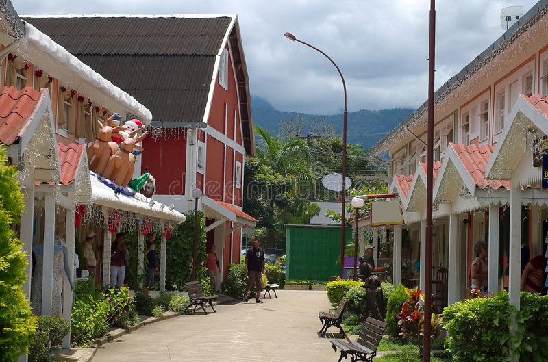 Little Finland. It is an open shopping in Penedo - Rio de Janeiro stock image