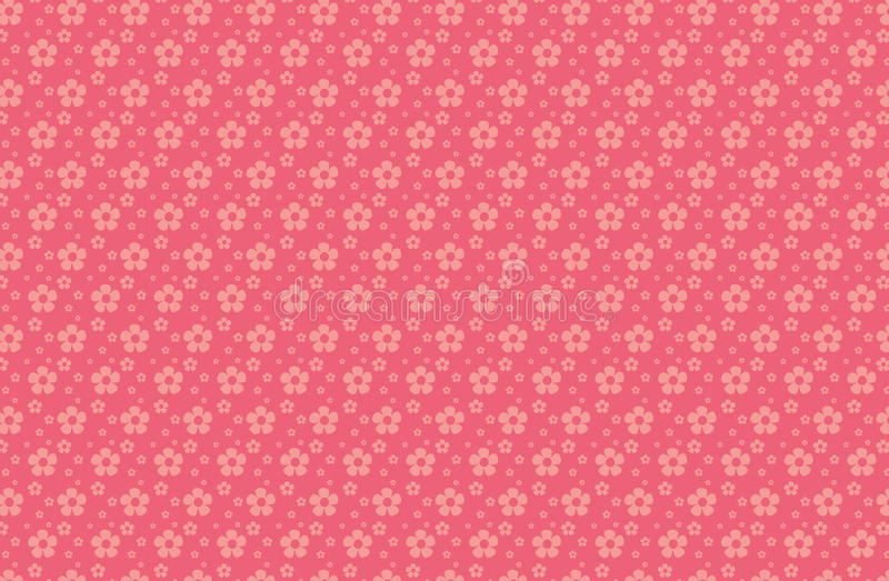 Little flowers on red background vector illustration