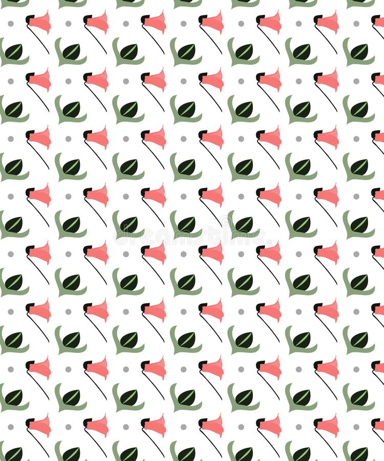 Little Flowers With White Background Seamless Pattern royalty free illustration