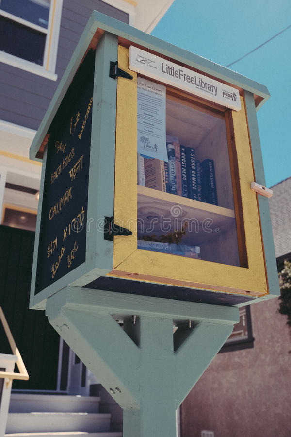 Download Little Free Library stock photo. Image of wooden, books - 82959210