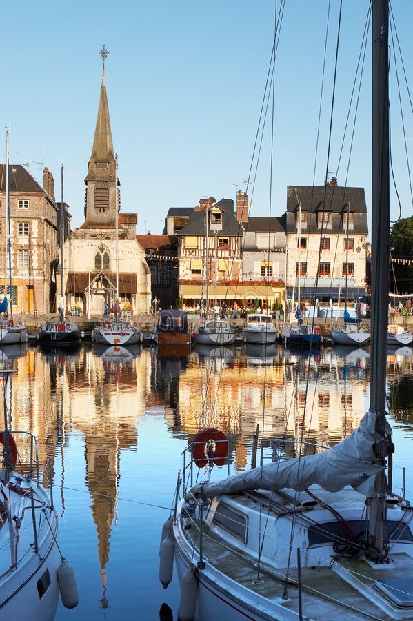 Little French port royalty free stock photos