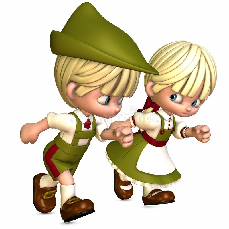 Little Friends - Toon Figures vector illustration