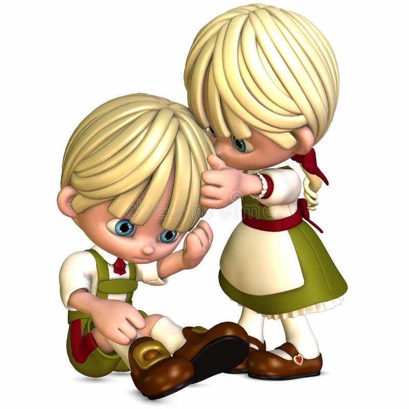 Little Friends - Toon Figures royalty free illustration