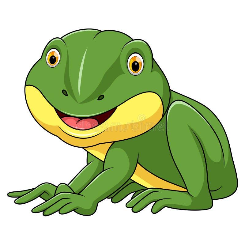 Little frog cartoon vector illustration