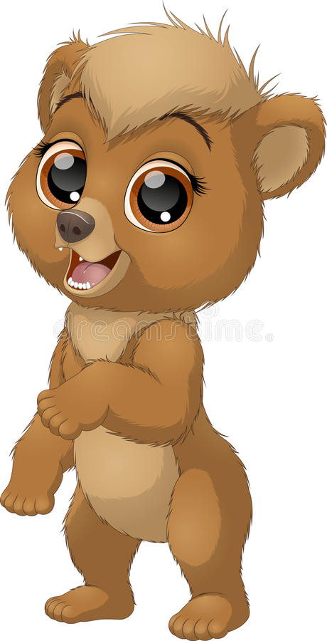 Little funny bear royalty free illustration