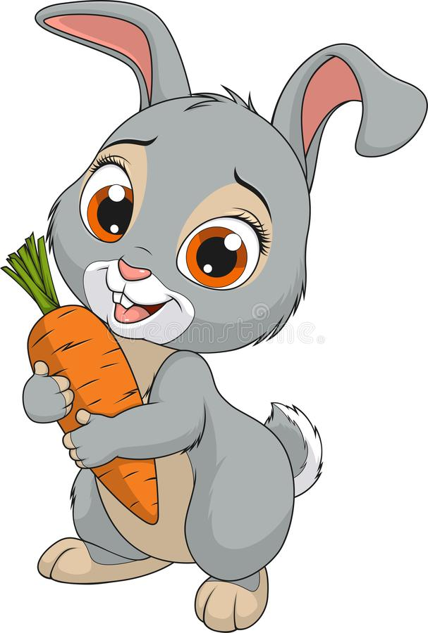 Little funny bunny stock illustration
