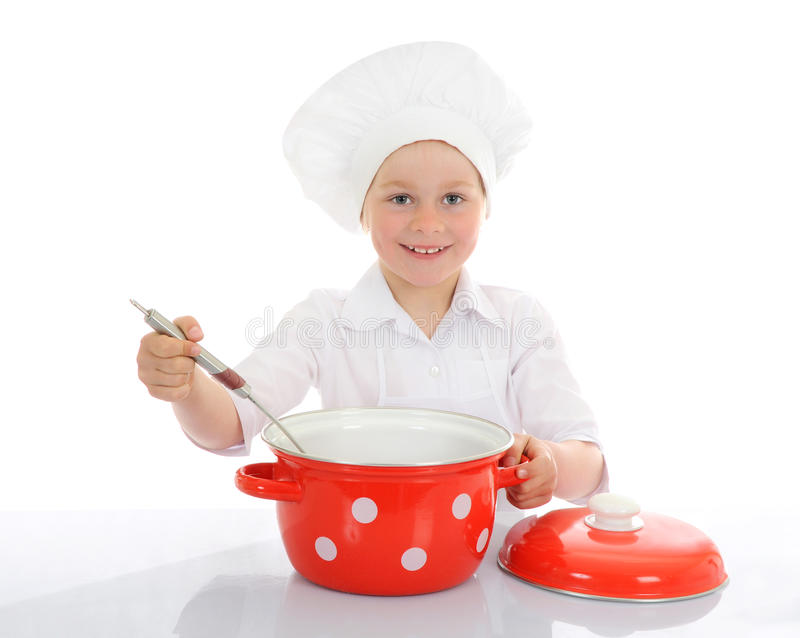 Download Little funny chef stock photo. Image of infant, face - 25232402