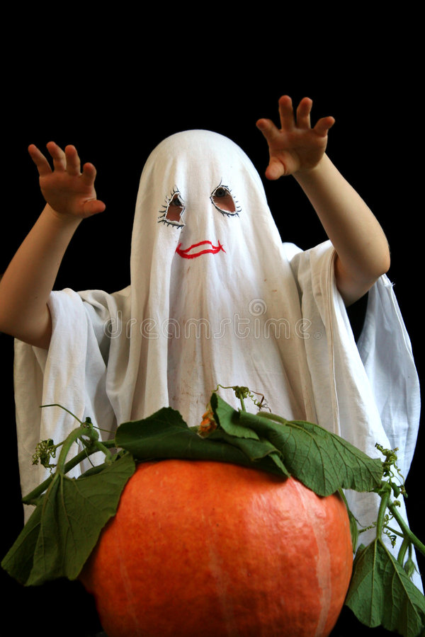 Little, funny ghost royalty free stock image