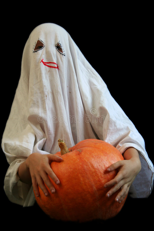 Little, funny ghost stock photo