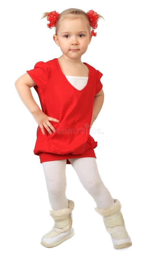 Download Little funny girl stock image. Image of preschooler, positive - 14247641