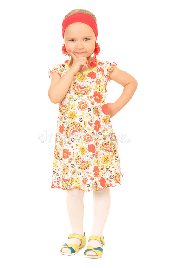 Download Little funny girl stock photo. Image of cheerful, funny - 14882768