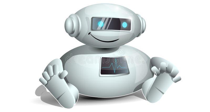 Little funny robot stock illustration