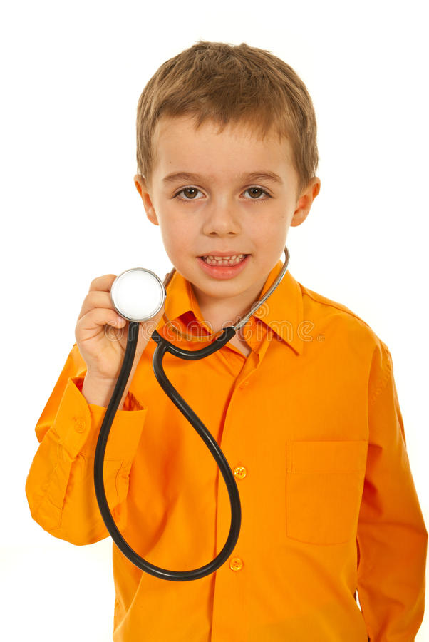 Little future doctor boy