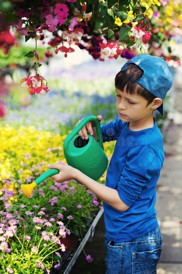 Little gardener royalty free stock photos