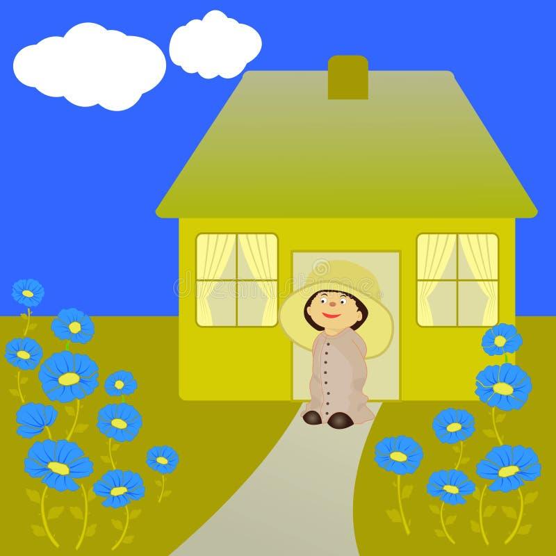 Download Little gardener stock vector. Image of garden, flourishing - 24672615