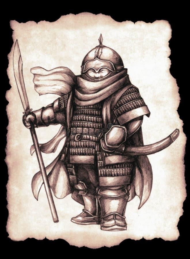 Little Genghis Subutai vector illustration