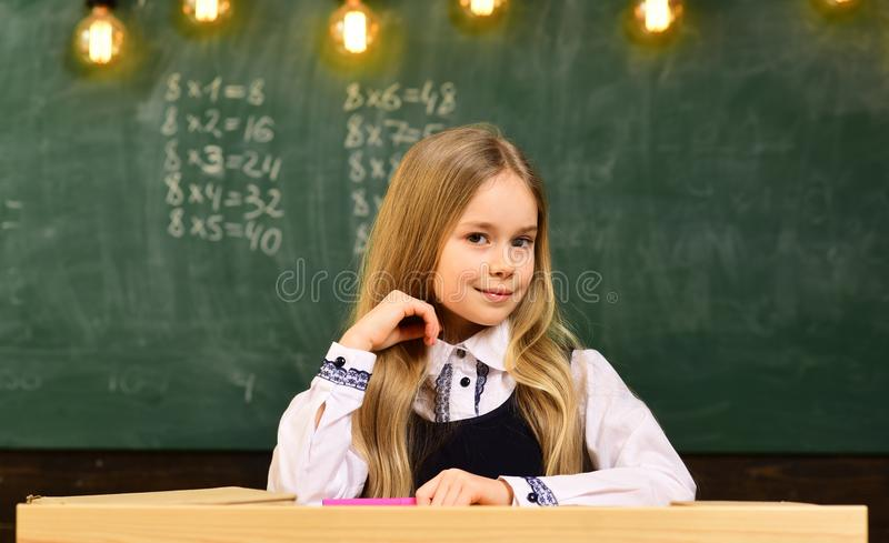 Little genius at school. more idea of little genius. future little genius. little genius girl smiling at school. student royalty free stock image