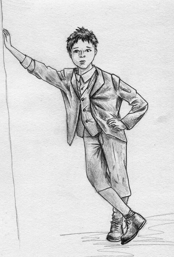 Download Little gentelman stock illustration. Illustration of small - 16385606