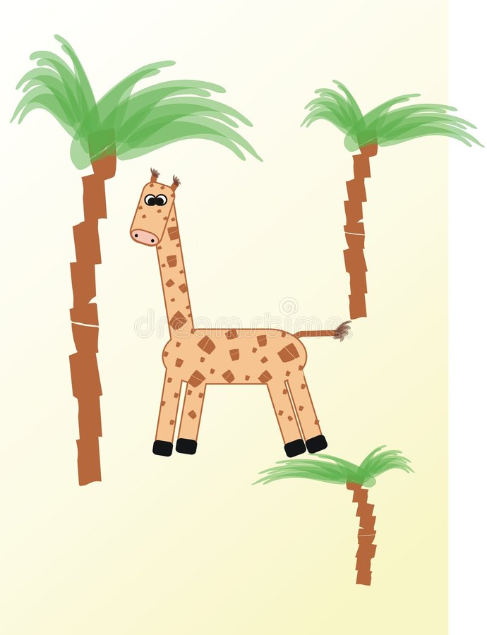 Download Little giraffe stock illustration. Image of happy, african - 7387316
