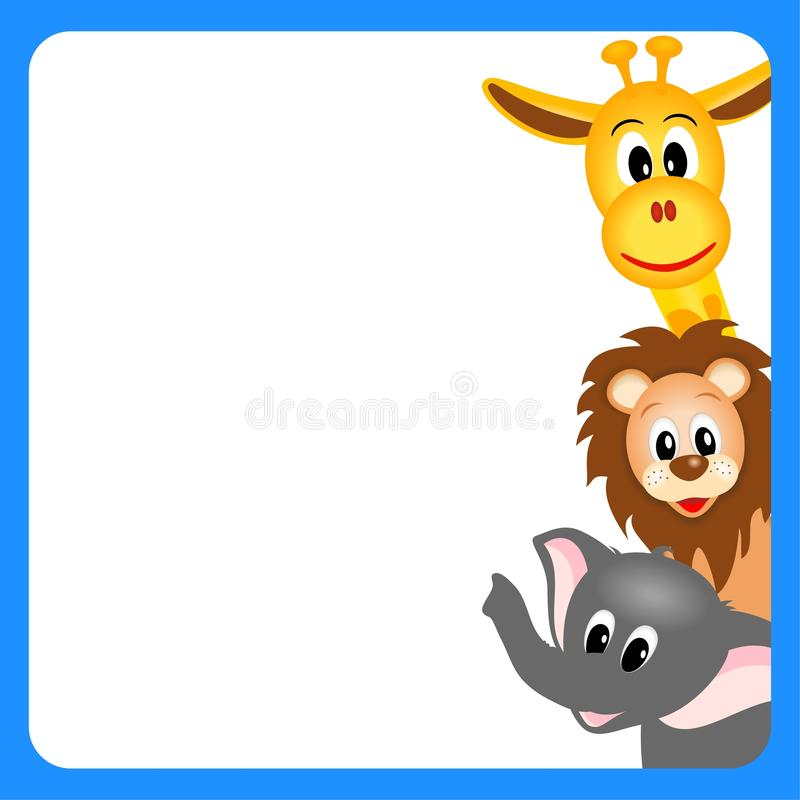 Download Little Giraffe, Elephant And Lion Stock Image - Image: 23493991