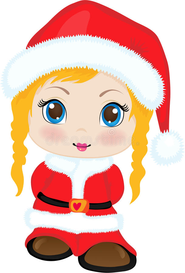 Little girl. The little girl in clothes of Santa Claus royalty free illustration