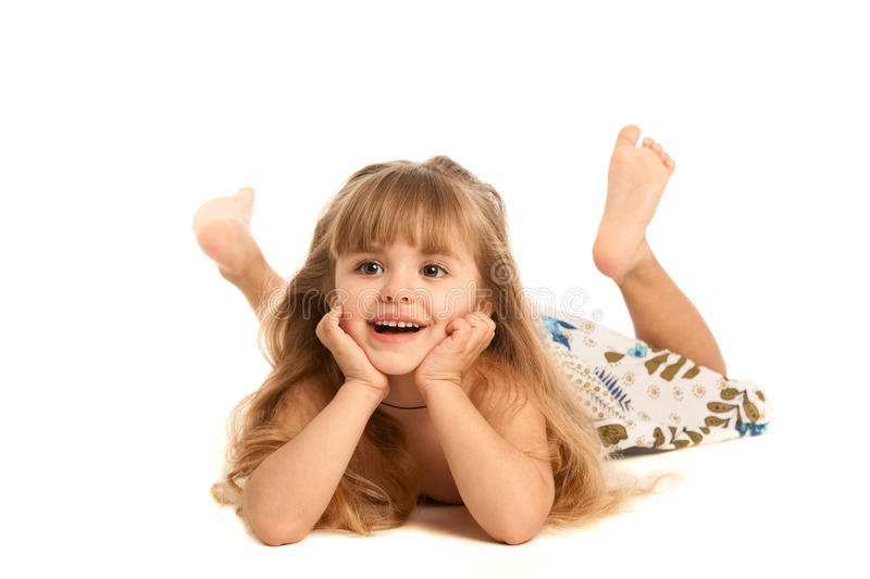 Download Little girl stock photo. Image of isolated, blond, horizontal - 18840854