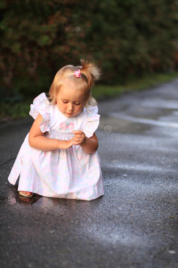 Download Little girl stock image. Image of baby, curiosity, outdoors - 21032653