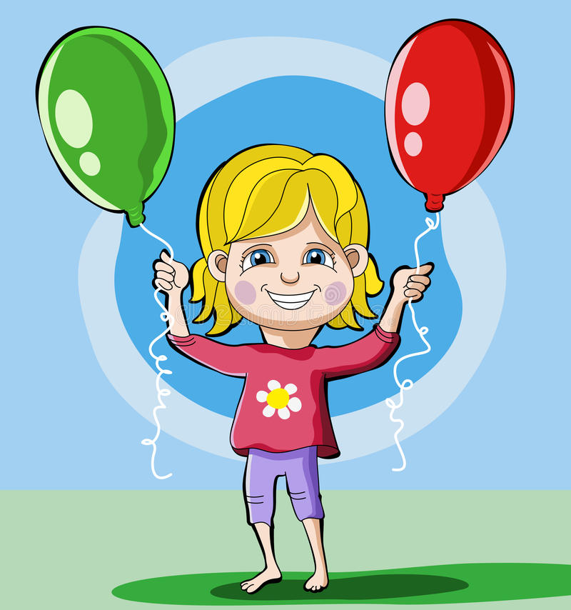 Download A Little girl stock vector. Illustration of cheerful - 21783793
