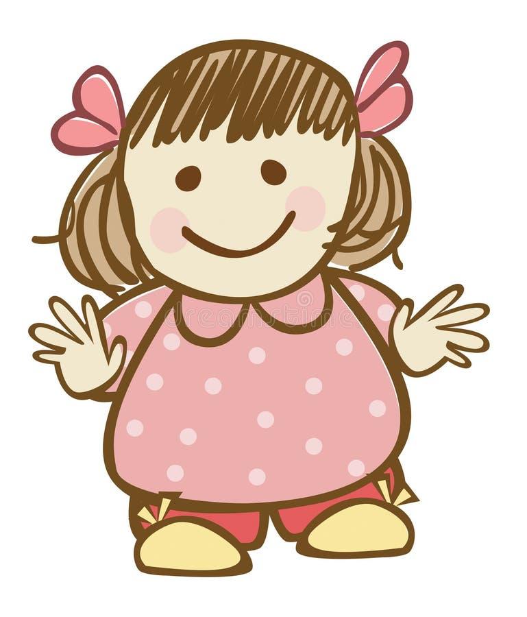 Download Little girl stock illustration. Illustration of dots - 22153487