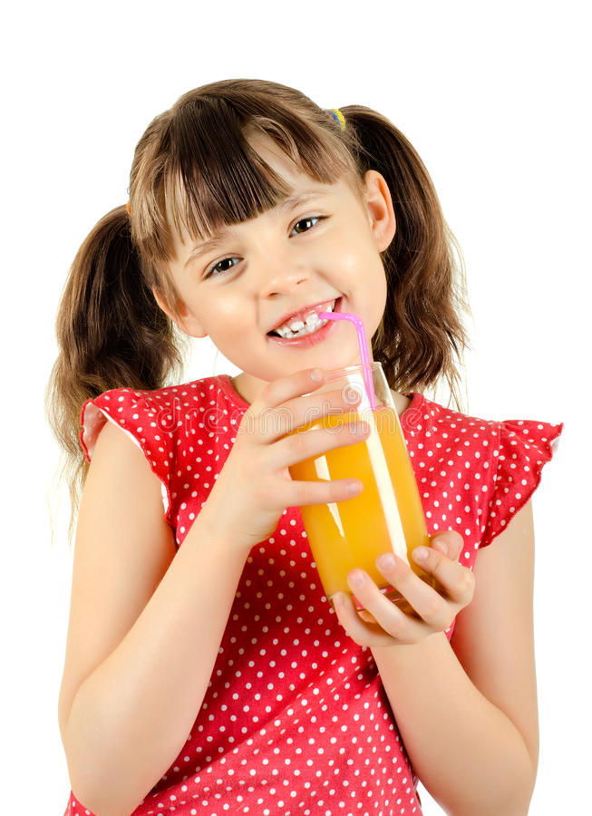 Download Little girl stock image. Image of glass, jolly, glad - 23758877
