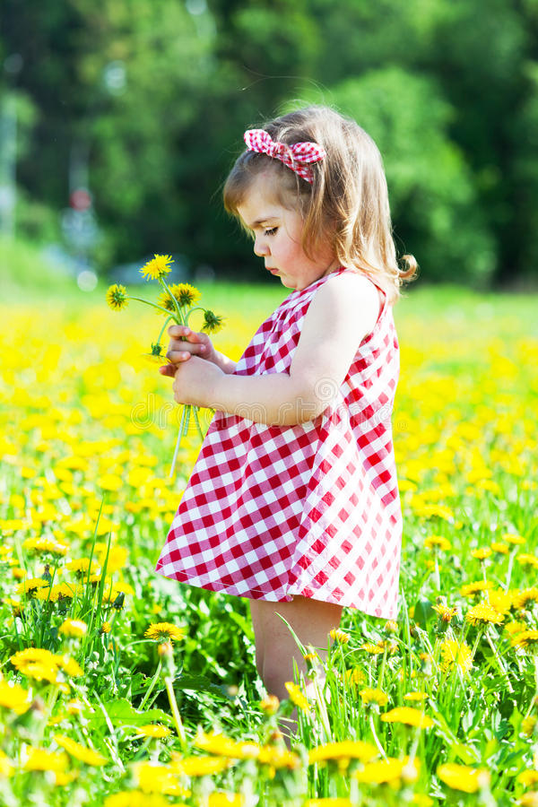 Download Little girl stock photo. Image of nature, blue, walks - 25599874