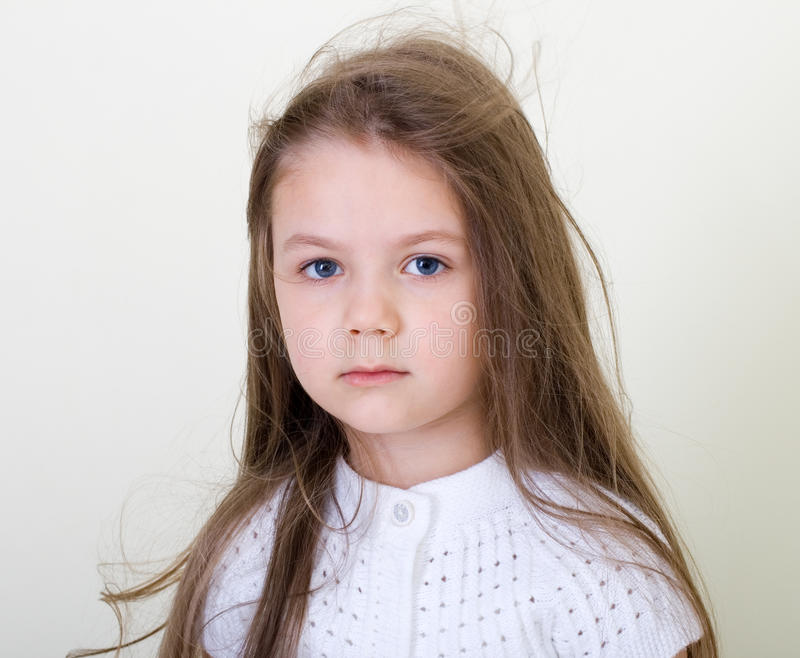 Download Little girl stock photo. Image of posing, little, resentment - 26294722
