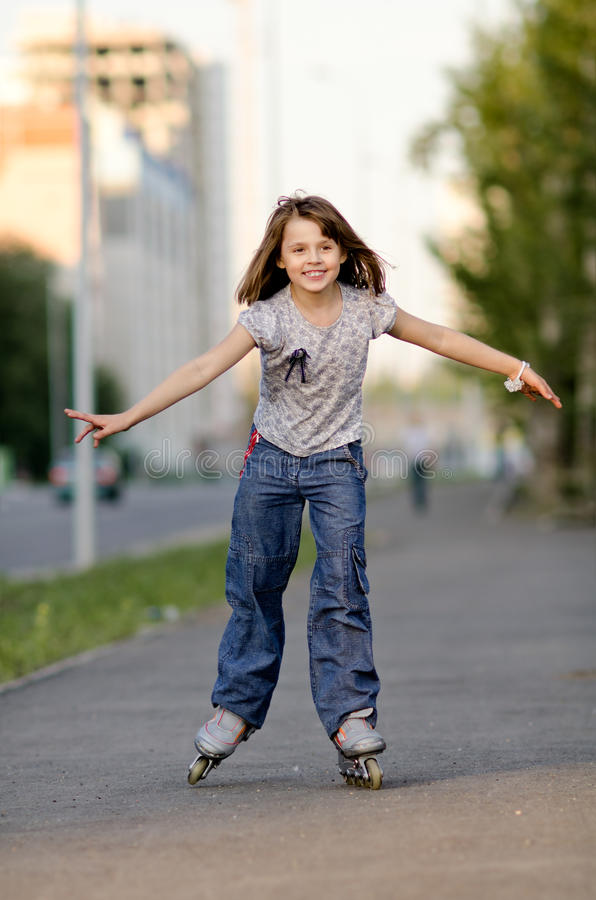 Download Little girl stock photo. Image of life, blades, blades - 26527568