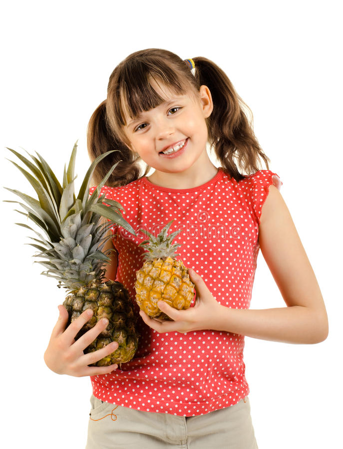 Download Little girl stock photo. Image of cute, laugh, diet, isolated - 26528464