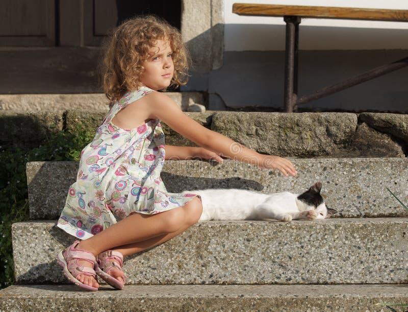 Download Little girl stock photo. Image of girl, village, yard - 27049200