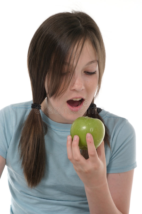 Download Little Girl And Apple 2 Stock Photo - Image: 887020