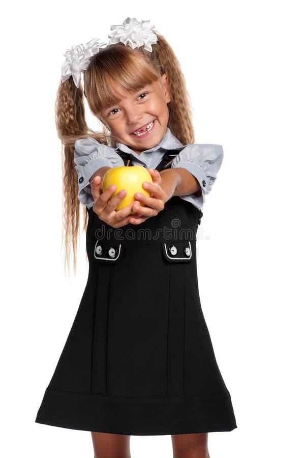 Download Little girl with apple stock photo. Image of girlie, beginner - 26584896