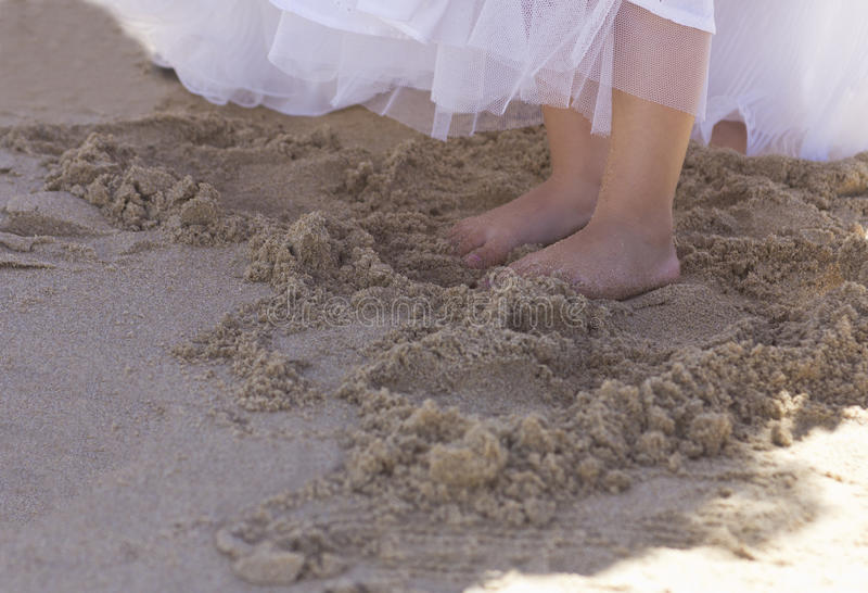 Download Bridesmaid Feet In The Sand Royalty Free Stock Image - Image: 29910576