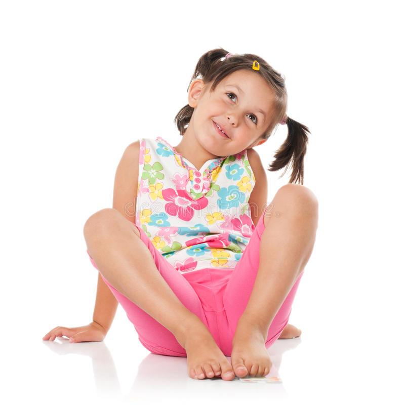 Download Little girl aspirations stock photo. Image of looking - 17868358
