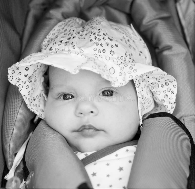 Download Little girl in baby-seat stock image. Image of adorable - 15811735