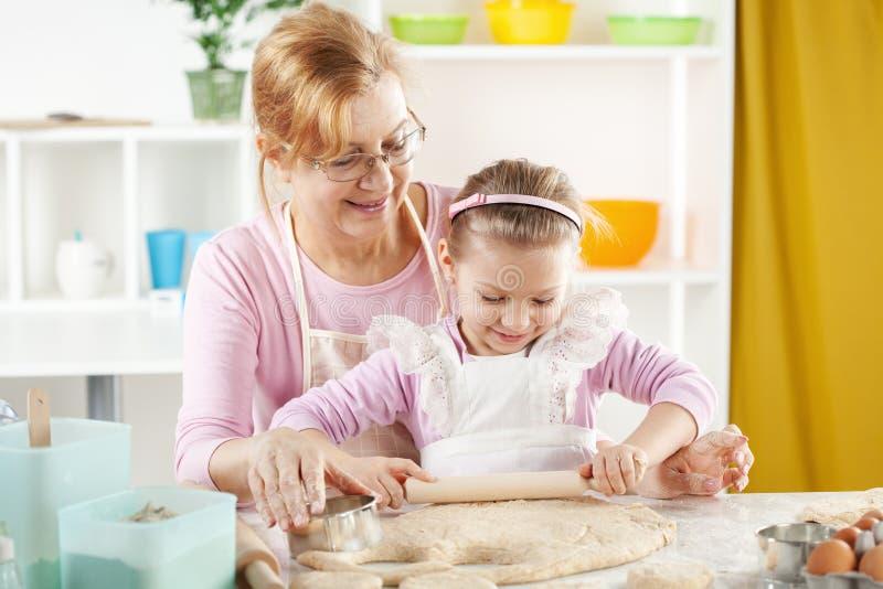 Little girl baker royalty free stock photo