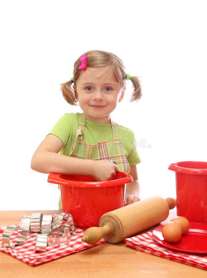 Download Little girl baking cakes stock photo. Image of pastry - 10900312