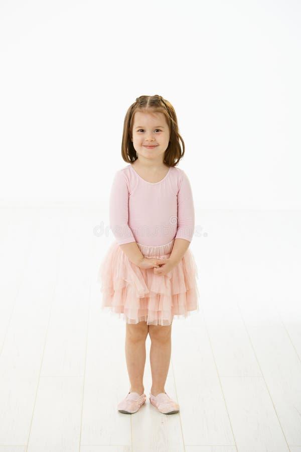 Little girl in ballet dress stock photos