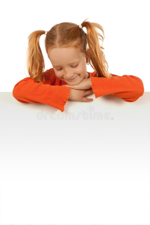 Little Girl With Banner Royalty Free Stock Images