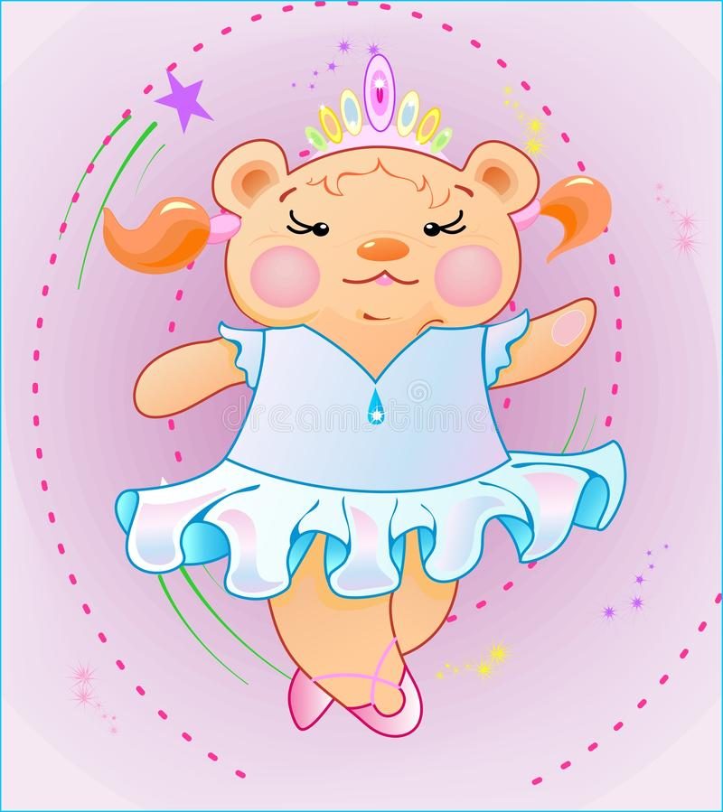 Download The Little Girl Is Bear-cub Royalty Free Stock Photos - Image: 26951238