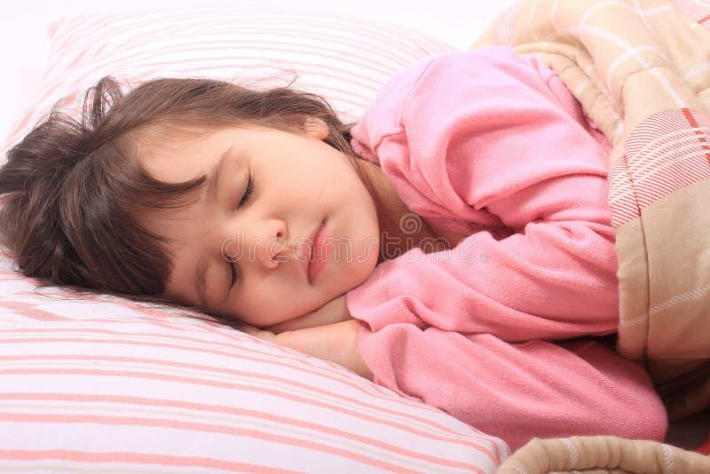 Little girl bedtime stock images